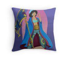 Princesses of Wrestling: Jasmine the Iron Sheikha Throw Pillow