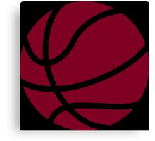 Basketball Garnet Canvas Print
