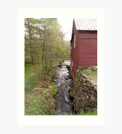 Brookside Barn Art Print