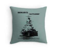 Bismarck Battleship Throw Pillow