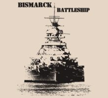 Bismarck Battleship by hottehue