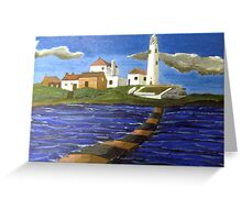 244 - STYLISED ST. MARY'S ISLAND, WHITLEY BAY - DAVE EDWARDS - ACRYLIC - 2009 Greeting Card