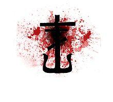 Frank Iero - Frnkiero Andthe Cellabration Logo Splatter by Quinn Baker