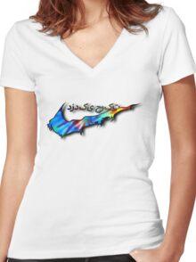 Tie-Die Sneak Women's Fitted V-Neck T-Shirt