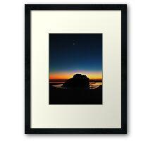 Sunset at Arcadia Framed Print