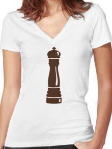 Pepper mill Women's Fitted V-Neck T-Shirt