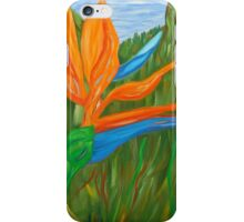 Bird of Paradise, tropical flowers, flower art, oil painting, flowers iPhone Case/Skin