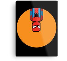 8Bit Spiderman Metal Print