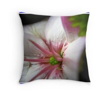 Pink and green lylium heart Throw Pillow