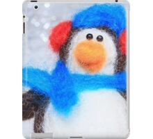 Cute Winter Penguin Funny Holiday Art iPad Case/Skin