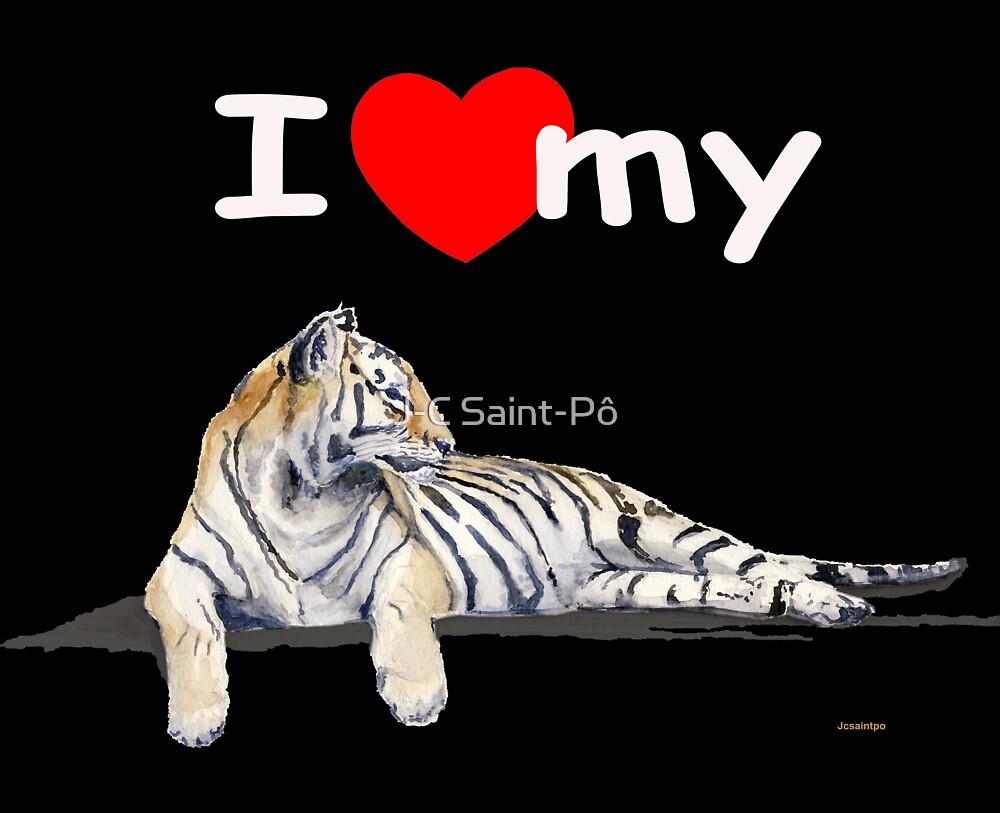 I love my Tiger (dark) by J-C Saint-Pô