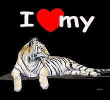 I love my Tiger (dark) by J-C Saint-Pô