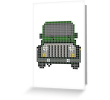 JEEP 'PixelArt' WILLYS #1 Greeting Card