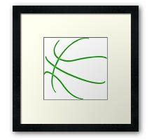 Basketball Green Framed Print