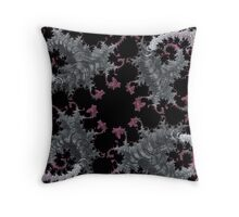 SILVER & PURPLE FRACTALS GIFTS / DECOR Throw Pillow