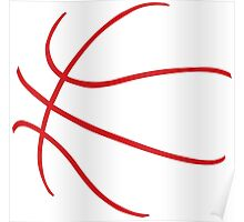 Basketball Red Poster
