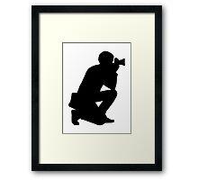 Photographer camera Framed Print