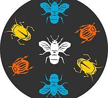 bugs - papercut patterns by Sid's Papercuts 8<
