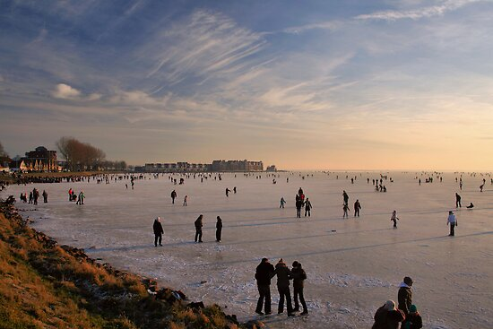 Ice Fun on The IJsselmeer by Jo Nijenhuis