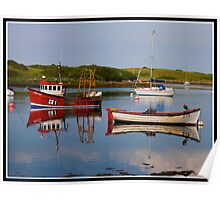 Boats on Strangford Lough Poster