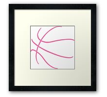 Basketball Pink Framed Print