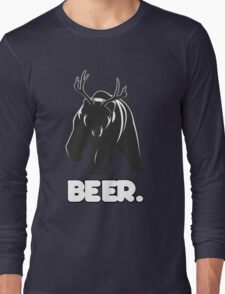 Beer! The Alcoholic Bear Deer Long Sleeve T-Shirt