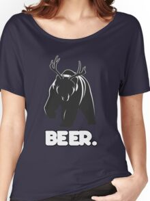 Beer! The Alcoholic Bear Deer Women's Relaxed Fit T-Shirt