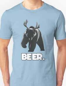 Beer! The Alcoholic Bear Deer Unisex T-Shirt