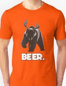 Beer! The Alcoholic Bear Deer Unisex T-Shirt
