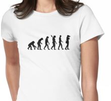 Evolution Photographer Womens Fitted T-Shirt