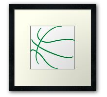 Basketball Green Framed Print