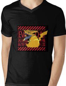 Pikagenesis Evangelion Mens V-Neck T-Shirt