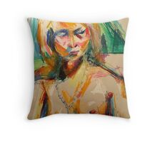 Untitled Model With Pearls Throw Pillow