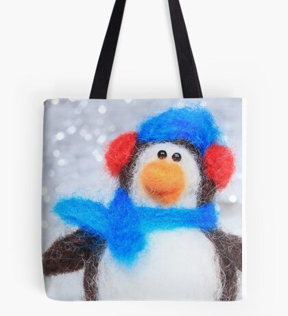 Cute Winter Penguin Funny Holiday Art Tote Bag