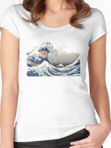 Cookie wave monster Women's Fitted Scoop T-Shirt