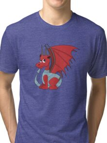 Red dragon cartoon Tri-blend T-Shirt