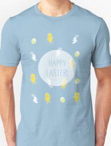 Happy Easter! (Blue) Unisex T-Shirt