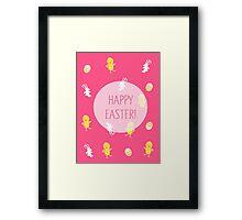 Happy Easter! (Pink) Framed Print