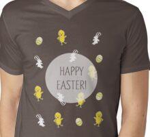Happy Easter! (Pink) Mens V-Neck T-Shirt