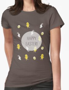 Happy Easter! (Pink) Womens Fitted T-Shirt