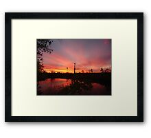 Sunset Lightshow Framed Print