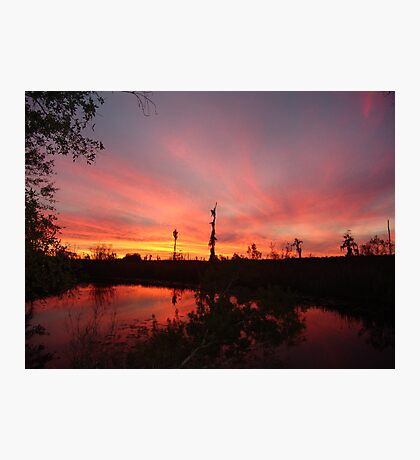 Sunset Lightshow Photographic Print