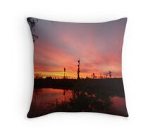 Sunset Lightshow Throw Pillow
