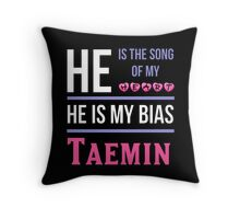 HE IS MY BIAS BLACK - Taemin Throw Pillow