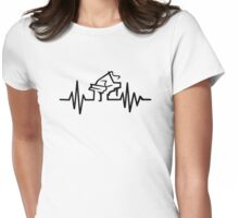Piano frequency Womens Fitted T-Shirt