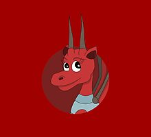 Red dragon cartoon by Radka Kavalcova