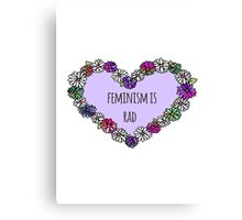 Feminism is Rad Heart Canvas Print