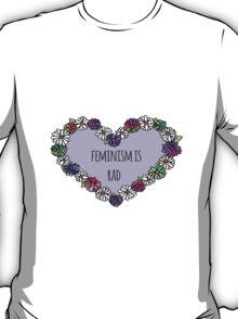Feminism is Rad Heart T-Shirt