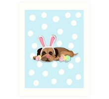 Easter Pug Art Print