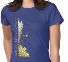 Increase Physical Activity - Rock Climbing 2 Womens Fitted T-Shirt